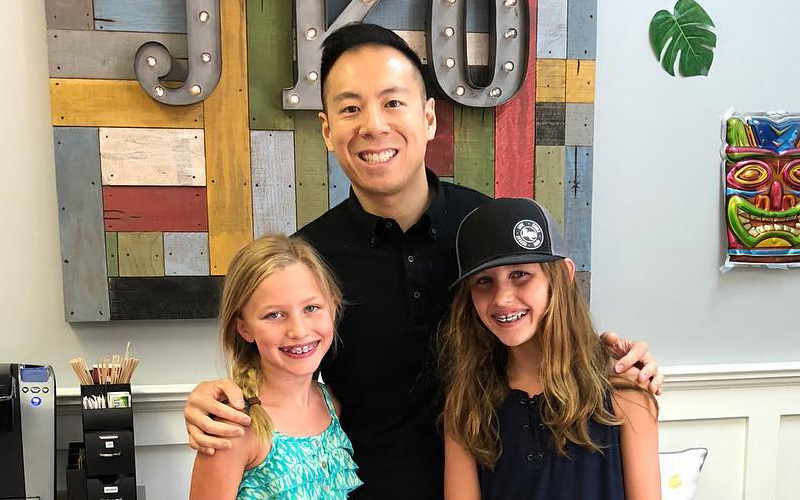 dr-jeff-with-children-after-braces-treatment-at-el-dorado-hills-california
